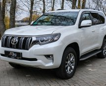 Land cruiser prado white